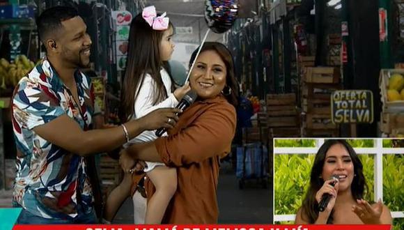 """Melissa Paredes se conmueve hasta las lágrimas por sorpresa de cumpleaños en """"América Hoy"""". (Foto: Captura de video)"""