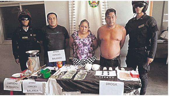 """Desarticulan clan """"Los Milas"""" y decomisan dos kilogramos de cocaína"""