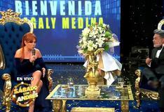 """Magaly Medina sorprende al asistir a aniversario de """"Porque hoy es sábado con Andrés"""""""