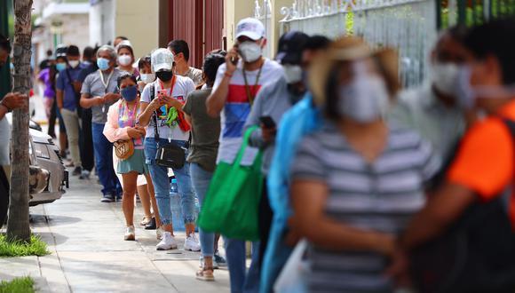 El Minsa indicó que hubo un incremento de casos de contagios por COVID-19 este miércoles. (Foto: Hugo Curotto/GEC)