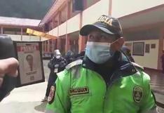 Huancavelica:  Policía intenta retirar a periodistas de local de votación (VIDEO)