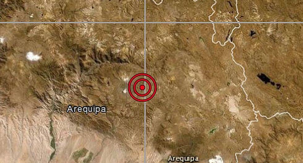 Cinco sismos se registraron en Arequipa en las últimas 48 horas