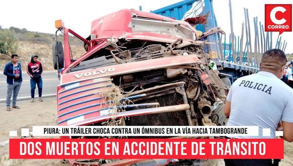 El accidente de tránsito se registró en el kilómetro 21, a la altura del centro poblado El Carmen, en la vía hacia Tambogrande.