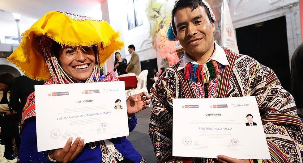 Ministerio de Cultura certificó a 422 servidores públicos bilingües de la región Cusco