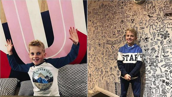Lo castigaban por dibujar en clase y ahora sus diseños decoran las paredes de un restaurante (VIDEO y FOTOS)