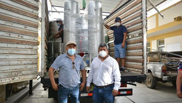 Ica: llega la primera de las tres plantas de oxígeno para el hospital de Nasca.
