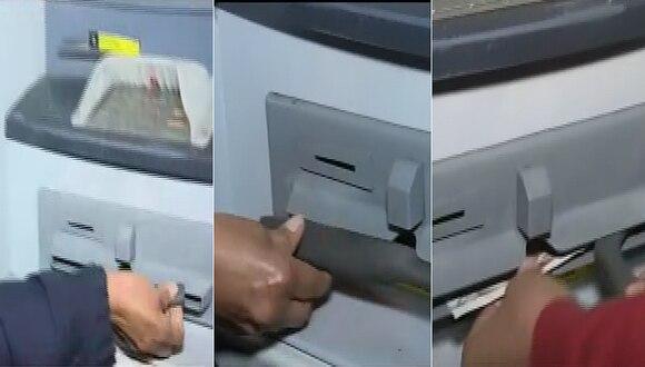 Callao: Revelan nueva modalidad de robo en cajeros automáticos (VIDEO)
