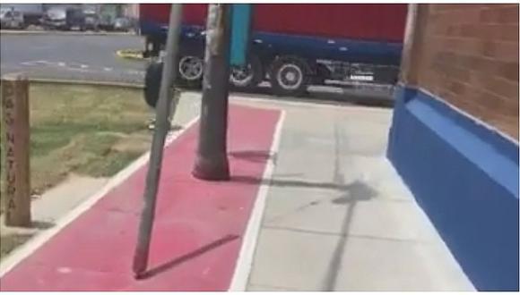 Facebook: Ciudadano critica renovada ciclovía de la avenida Argentina (VIDEO)