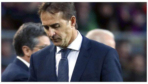 Real Madrid despide a Julen Lopetegui y anuncia a su nuevo entrenador