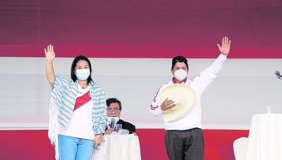 Ente electoral señaló que los detalles de estos dos debates se definirán en una próxima reunión con los partidos políticos de Pedro Castillo y Keiko Fujimori. (Fotos: Hugo Pérez / @photo.gec)