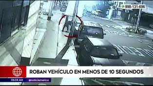 Delincuencia en Lima: Ladrón roba auto en menos de 10 segundos