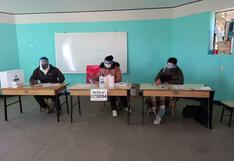 En ODPE San Román primera mesa de sufragio se instaló a las 6 de la mañana