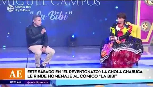 """La Bibi"" recibirá homenaje en programa de 'La Chola Chabuca' (Foto: Captura América TV)"