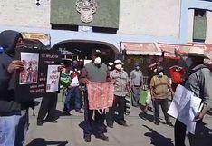 Exaportantes a la ONP hacen plantón para exigir devolución de recursos