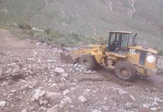 Lluvias dañan carreteras en pueblos de Condesuyos