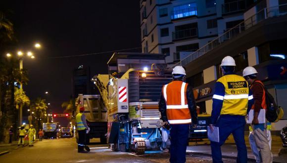 Los trabajos se realizarán en el horario de 10 p.m. a 5 a.m. para evitar la restricción vehicular. (Foto: Imagen referencia/ MML)