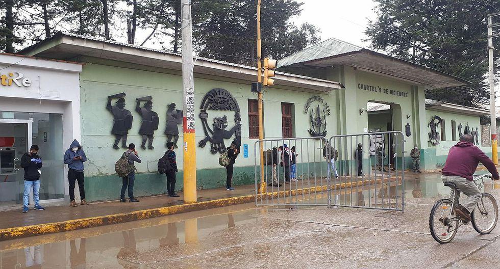 Jóvenes reservistas acuden a llamado del Ejército Peruano
