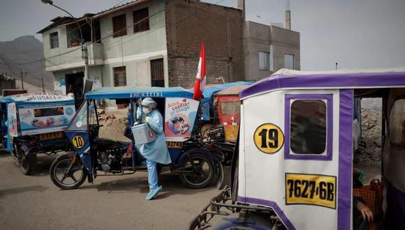 Huánuco: reconocen la labor de los mototaxistas por apoyar en la lucha contra el COVID-19 (Foto referencial).