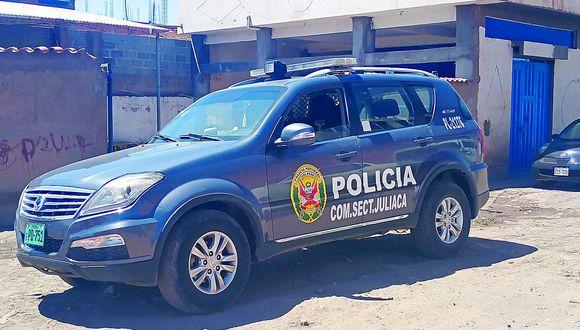 Pedirán prisión para policía intervenido bebiendo licor en Juliaca