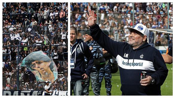 Diego Maradona y su emocionante ingreso a la cancha de Gimnasia y Esgrima La Plata (VIDEO)