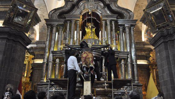 """Ultiman detalles para la procesión del """"Taytacha"""" de Los Temblores en Cusco"""