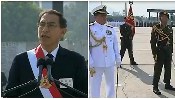 Vizcarra es reconocido como jefe supremo de las FF. AA. y de la PNP (VIDEO)