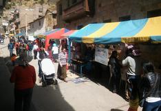 Huancavelica: Defensoría del Pueblo pide a las municipalidades evitar el comercio ambulatorio durante elecciones