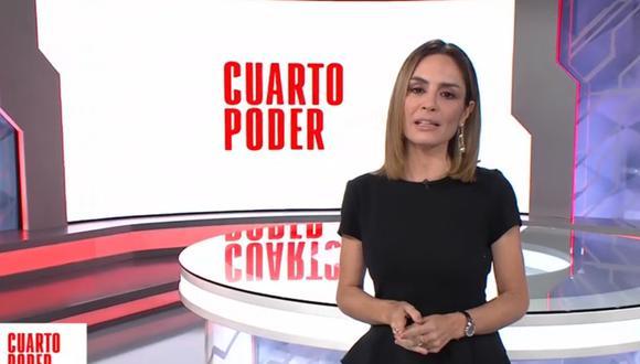 Mávila Huertas es la nueva conductora de Cuarto Poder. | Foto: América TV.
