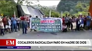 Madre de Dios: Cocaleros amenazan con quemar un camión lleno de medicamentos (VIDEO)