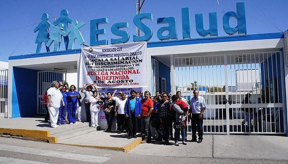Solo el 7% acata el paro indefinido de Essalud en Moquegua