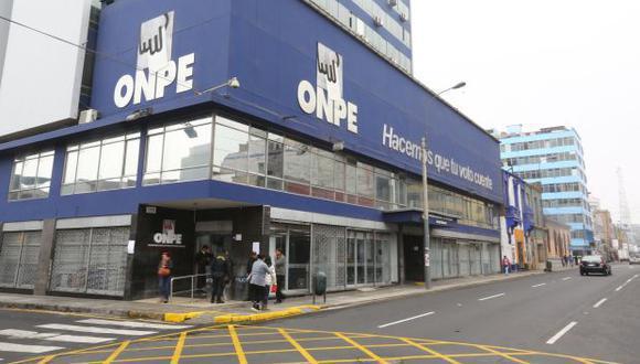 La ONPE es la encargada de supervisar la distribución y el gasto del financiamiento público directo. (Foto: El Comercio)