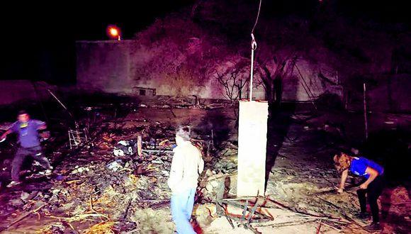 Padre se quema y pierde ahorros al incendiarse su casa en festejo por su día