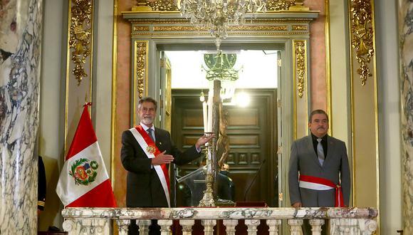 Cluber Aliaga Lodtmann reemplaza en el cargo al renunciante exministro del Interior, Rubén Vargas. (Presidencia Perú)