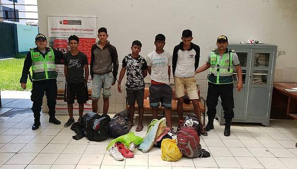 Cuatro venezolanos son acusados de hurtar 720 soles