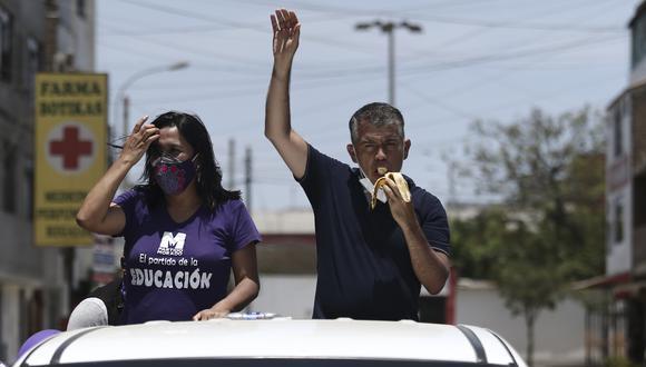 Candidato presidencial Julio Guzmán , participa de la caravana morada que recorrió los distritos de Lima Norte. Foto: Jesús Saucedo / @photo.gec