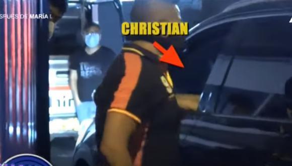 "Christian Domínguez presentaba pase laboral como ""prensa de ATV"" para transitar en toque de queda. (Foto: Captura ATV)"