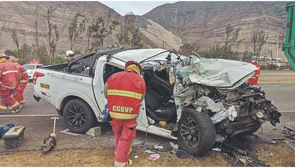 Hermanas mueren en accidente de tránsito y la bebé de una de ellas quedó herida en Áncash.