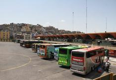 Arequipa se queda sin transporte interregional por dos semanas