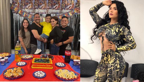La exbailarina Génesis Tapia celebró en familia el cumpleaños número seis de uno de sus hijos, cuyo padre y actual pareja también estuvieron presentes. (Fotos: Instagram)