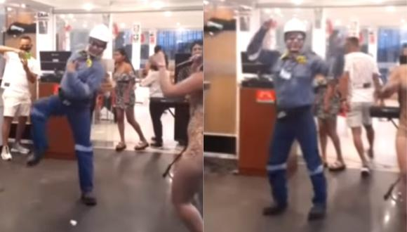 'Ingeniero bailarín' se hizo viral por bailar canción de Explosión De Iquitos. (Foto: Captura TikTok)