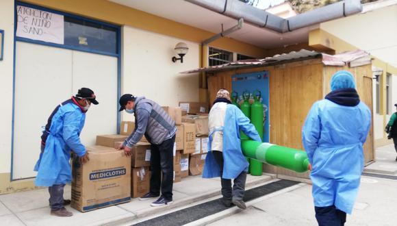 Hospitales de Cotabambas recibieron 60 balones de oxígeno y equipos de protección (Foto: Gore Apurímac).
