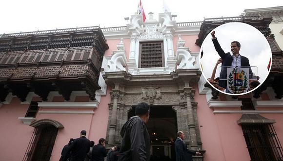 Cancillería reitera respaldo del Perú a Juan Guiadó y condena cualquiera acción que amenace su libertad