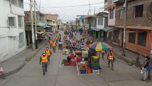 Chulucanas: Delimitan espacios para que ambulantes puedan vender sus productos