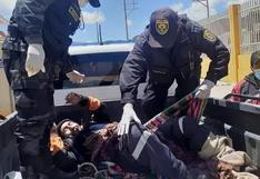 Motociclista queda herido tras ser atropellado por un bus en Azángaro
