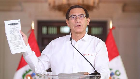 Mandatario no indicó si asistirá al pleno del Congreso este viernes o enviará en su lugar a un abogado. (Foto: Presidencia Perú)