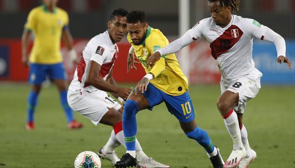 Perú vs. Brasil: se ven las caras en el estadio Nilton Santos por la jornada 2 de la Copa América 2021. (Foto: AFP)