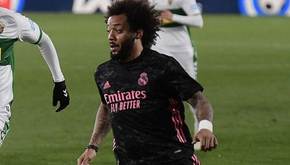 Marcelo Jugó 76 minutos en el empate entre Real Madrid y Chelsea en el Di Stéfano. (Foto: AFP)
