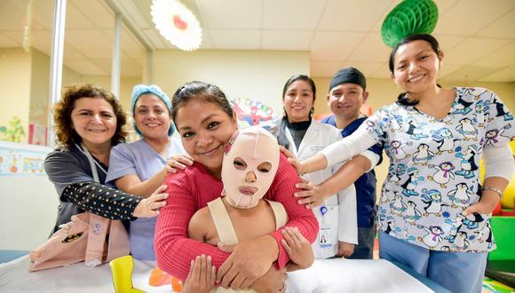 En lo que va del año 2021, el INSN San Borja recibió aproximadamente 40 casos de niños con quemaduras graves, de los cuales más del 70% son menores entre 1 y 5 años. | Foto: Difusión