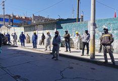 Trabajadores de contrucción exigen sus pagos al Gobierno Regional de Pasco