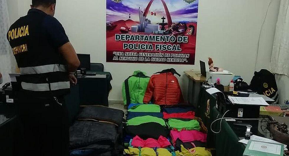 Polfis incauta casacas de contrabando por un valor total de S/ 118,000
